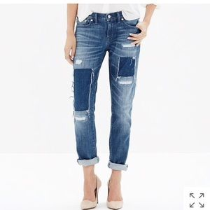 Madewell Jeans - Madewell | Distressed Patched Slim Boyjean